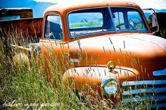 Orange Rural Truck Bozeman Montana by HeatherZahnGardner Montana, Chevrolet, Trucks, Art Prints, Orange, Photography, Vintage, Etsy, Art Impressions