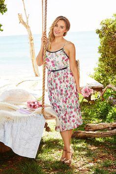 Pleated midi dress by LC Lauren Conrad