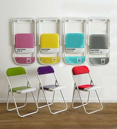 Pantone Chairs - LOVE THESE!! For all the design nerds out there! =)