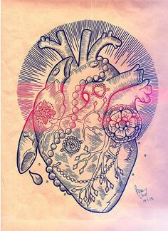 heart tattoo design. #tattoo #tattoos #ink  maybe when i'm a nurse.........i'll get a shirt with this on it ;)