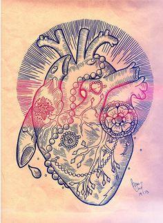 Cool heart tattoo design. #tattoo #tattoos #ink