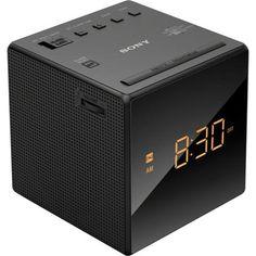 Rádio Relógio Sony AM/FM ICF-C1, 127V, 115mW, Bateria Reserva, Visor de LED