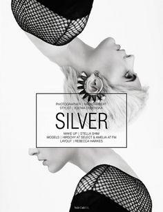 Silver volt café: by volt magazine design + layout мода граф Design Poster, Art Design, Book Design, Cover Design, Layout Design, Editorial Layout, Editorial Design, Branding, Design Social