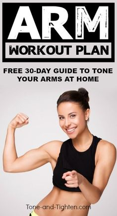 FREE 30 Day Arm Workout Plan from Tone-and-Tighten.com