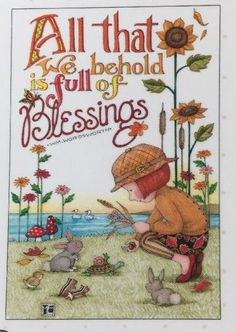 Handmade Fridge Magnet-Mary Engelbreit Artwork-All That We Behold