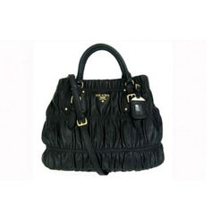 4830b76808 €183.00 Saffiano Prada Gaufre Lambskin Leather Tote Bag Bn1789 Black Online  Uk