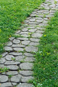 cobblestone walkways - All For Garden Tropical Pool Landscaping, Country Landscaping, Garden Landscaping, Stone Garden Paths, Garden Stones, Stone Pathways, Cobblestone Walkway, Outdoor Walkway, Backyard Projects