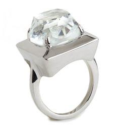 Lele Sadoughi Silver Looking Glass Ring Silver