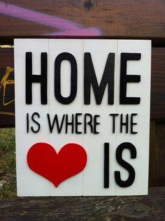 """Home love cartel de madera """"four wood"""" inspiracion de Planetasierra por DaWanda.com"""