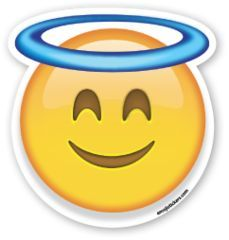Smiling Face with Halo | Emoji Stickers: