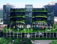 The 2015 winning design for the Urban Habitat Award by Council on Tall Buildings and Urban Habitat was the ParkRoyal on Pickering, a hotel in Singapore created by WOHA.