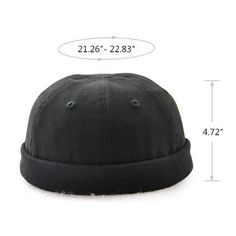 48b58887415 Men Women Plus Size Retro Brimless Hat Adjustable Hats For Big Head Rolled  Cuff Sailor Cap Cheap