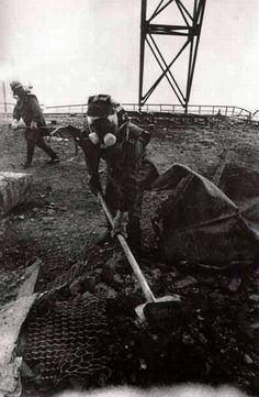 Fighting Chernobyl disaster 1.  Press photographer Igor Kostin was the first professional press photographer who began to work at the accident site at Chernobyl.  Igor Kostin captured more than five thousand photographs of the Chernobyl disaster and its aftermath. He received more than five maximum allowable doses of radiation.