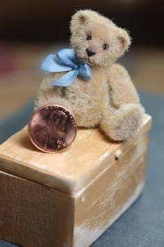OOAK Dollhouse Miniature Mohair Teddy Bear Artist  Kimbearlys Originals  #1 /#1 #Kimbearlys