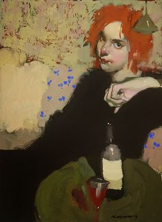 """... he paints remarkably French post-impressionist-looking scenes with an updated palette and sensibility. Images of women and men, alone a..."