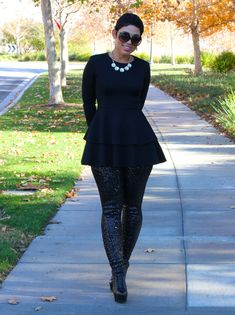 Fashion, Lifestyle, and DIY: Daytime Glam! DIY Top & Sequin Leggings