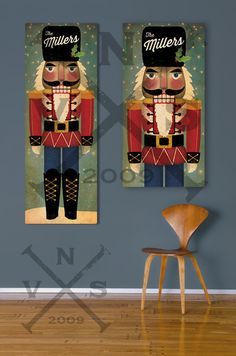 NUTCRACKER Custom Text Personalized Stretched Canvas Wall Art Ready-To-Hang stretched