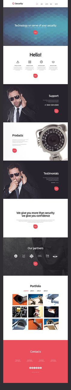 Security Services Website #WordPress #template. #themes #business #responsive