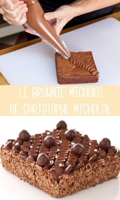 Brownie recipes 350295677249841013 - Le brownie Michoko de Christophe Michalak Source by clochettepan Köstliche Desserts, Chocolate Desserts, Delicious Desserts, Brownie Recipes, Cake Recipes, Dessert Recipes, Bolo Cake, American Desserts, Pretty Cakes