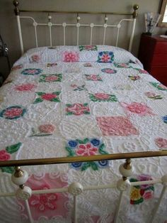 Patchwork chenille spread