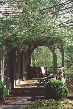 Charming little porch.