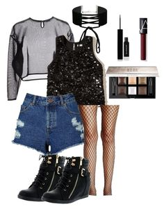 """""""Smoky"""" by cjnrmlover on Polyvore featuring Yves Saint Laurent, Hollister Co., Miss Selfridge, Top Moda, Free People, Givenchy and NARS Cosmetics"""