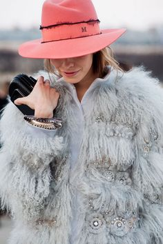 Fur and crochet and a super cool hat