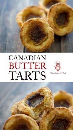 This Recipe For Canadian Butter Tarts Makes The Perfect Butter Tart With That Crispy-But-Flaky Crust, And That Slightly-Runny Filling With A Rich Caramel Flavor This Easy Recipe Even Has Optional Pecans Chocolates and Chai Recipe Fun Desserts, Delicious Desserts, Dessert Recipes, Yummy Food, Delicious Dishes, Tart Recipes, Sweet Recipes, Baking Recipes, Pastry Recipes