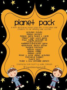 First Grade Fanatics: Planets, Stars and Space... Oh My! (unit for purchase)