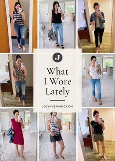Fashion expert shares a roundup of my daily outfits from the past few weeks. She also shares a little about where I wore them and how they came together. Check out the post for lots of fashion tips and tricks. Winter Fashion Casual, Spring Summer Fashion, Autumn Winter Fashion, Basic Outfits, Fall Outfits, Fashion For Women Over 40, Grey Tee, Night Looks, Everyday Outfits