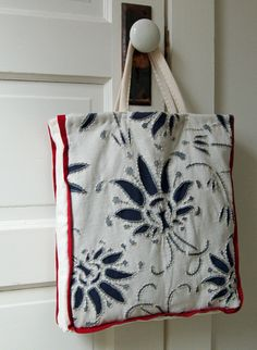 Natalie Chanin Style Market Bag Tutorial. ( You don't have to buy the kit, stencil your own top piece)