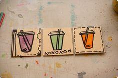 Watercolor Wood Coaster