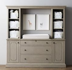 entertainment center into a baby changing station - Google Search