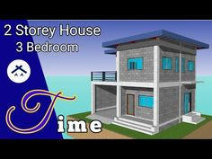 ARKIX3D - YouTube Two Story House Design, 2 Storey House Design, Duplex House Design, Simple House Design, Modern Bungalow House Plans, Duplex House Plans, Two Storey House Plans, Affordable House Plans, 2 Bedroom House Plans