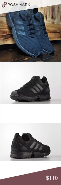 newest 3db52 4a402 Adidas original ZX Flux PrimeKnit all black Men s size 6 Women s size 7.5  No box Shoes