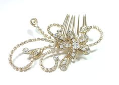 wedding accessories bridal haircomb vintage by Asnatjewelry