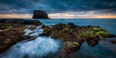 Porto da Cruz Swirl - A great morning at the cliffs of Porto da Cruz at Madeira.