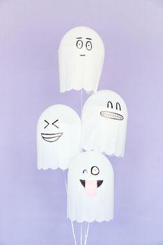 halloween: Disfraza a tus globos de fantasmas