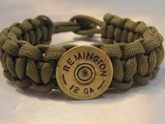 Paracord Survival Bracelet Remington Shotgun by CreativeCowgirl