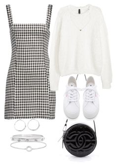 """""""Untitled #2810"""" by hiitsbre ❤ liked on Polyvore featuring Chanel, Lovers + Friends, H&M, Superga, Estella Bartlett, Cartier, Lauren Ralph Lauren and Thomas Sabo"""