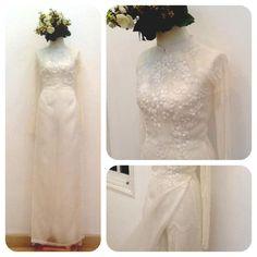 Ao dai wedding dress.