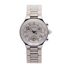 Women's Certified Pre-Owned Watches - Cartier Chronoscaph 21 quartz womens Watch 2996 Certified Preowned ** Read more reviews of the product by visiting the link on the image.