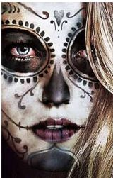 Sweet Girls have Sugar Skulls - Blake lively Sugar Skull Mädchen, Sugar Skull Halloween, Sugar Skull Makeup, Halloween Make Up, Halloween Costumes, Skeleton Costumes, Halloween Candy, Halloween Halloween, Blake Lively