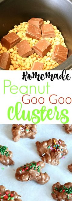 These Homemade Peanut clusters are so EASY to make and come together right in your slow cooker.