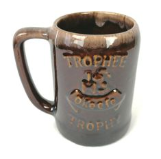Canadian Beer, Cool Mugs, Vintage Pottery, Ceramics, Brown, Tableware, Chips, Ebay, Products