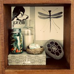 lovely idea for all the little treasures I've been gathering.