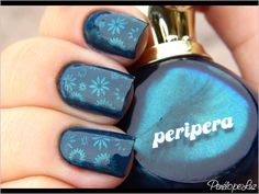 Ski Teal We Drop OPI + Carimbo com Prism Navy Peripera