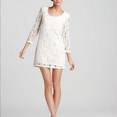 French Connection Lark Rise Crochet Dress