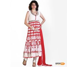 #ethnic #suits #white #red #traditional Women Salwar Suit, Salwar Suits Online, Ethnic, Traditional, Red, Dresses, Design, Fashion, Vestidos
