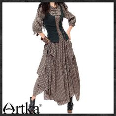 Artka* Brave willed gal. Hugging waist swing maxi prom dress LA10237C